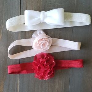 Three baby headbands